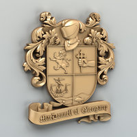 Coat of arms decorative 004