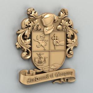 3D emblem logo crest