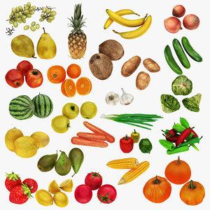 fruit vegatable 1 25 3D model