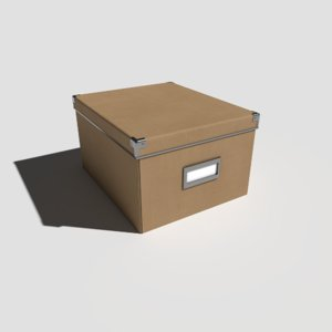 3D model pbr office box