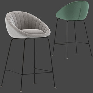 oslo home gisele barstool 3D model