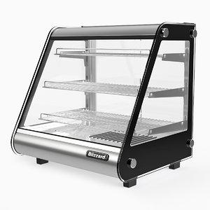 3D hott1 counter heated merchandiser