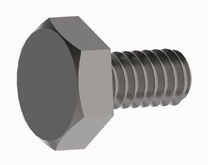 screw bolt m2 length 3D model