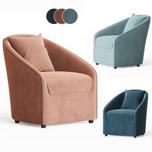 farrah occasional chair globewest 3D model