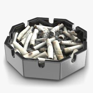 3D ashtray pbr