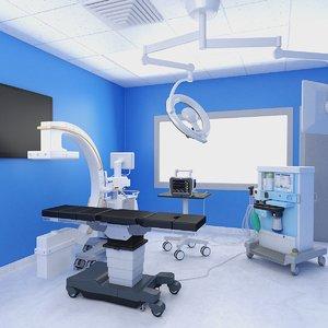 hybrid operating room 3D model