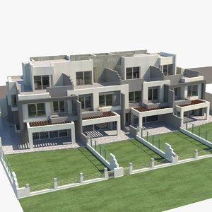 3D model townhouse house