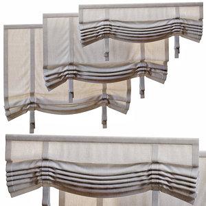 3D roman curtains 1500