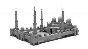 3D model sheikh zayed grand mosque