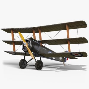3D plane gameready sopwith model