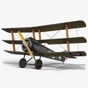 3D plane gameready sopwith model