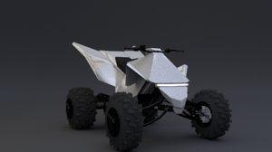 3D teslas cyberquad