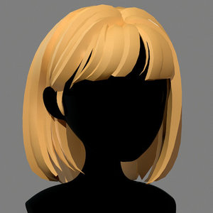 character - cartoon girl 3D model