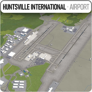 international airport huntsville 3D model