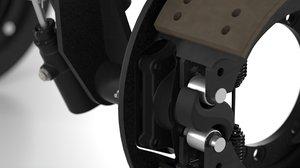 pair vehicle brakes assemblies 3D model