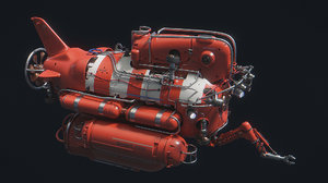 lobster submersible 3D