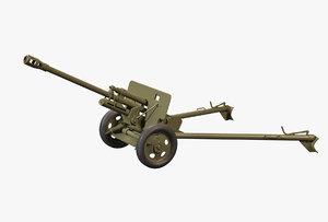 3D zis-2 cannon