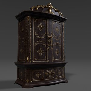 3D armoire french model