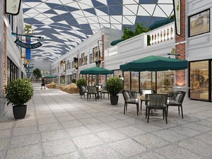 3D shopping street patio