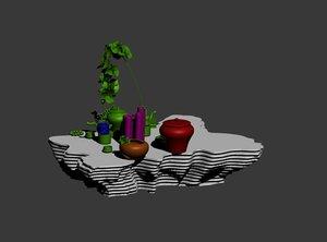 3D parametric table model