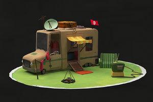 camping car 3D model