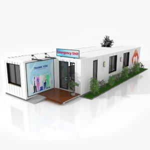 emergency unit shipping containers 3D