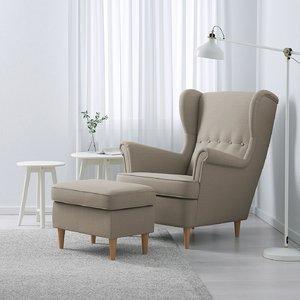 wing chair ikea 3D model