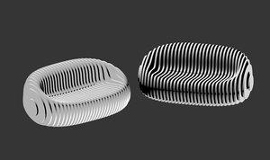 3D parametric sofa