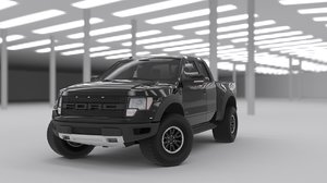 car pickup suv 3D model