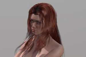 woman character rigged model