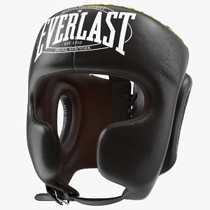 3D everlast protective boxing helmet model