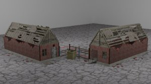 3D ruined buildings