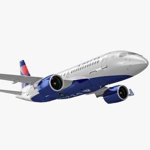 3D model airbus a220 100 delta