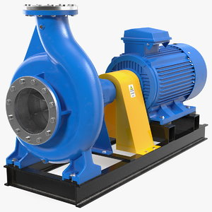 electric centrifugal water pump 3D model
