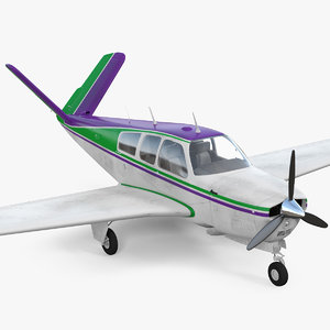 single engined aircraft v 3D model