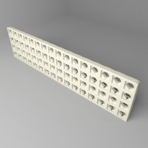 3D fence stone 6