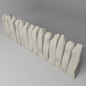 fence stone 9 model