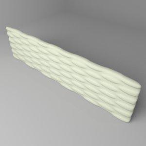 3D fence stone 3 model