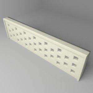 fence stone 4 3D model