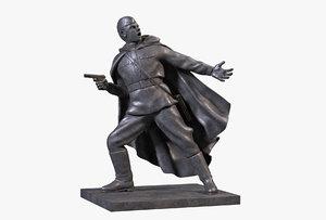3D bronze sculpture commander