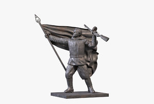 3D bronze sculpture communist model
