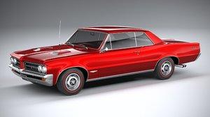 3D pontiac gto 1964 model