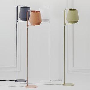 3D floor lamp zero elements model