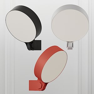 3D sconce zero adjustable wall lamp