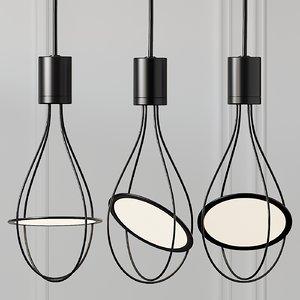 ceiling lights cristallo 3D model