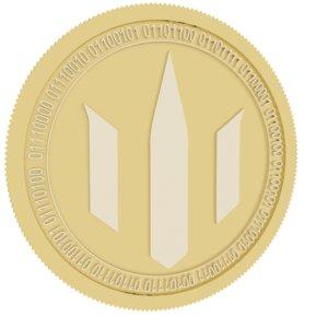 3D model poseidon gold coin