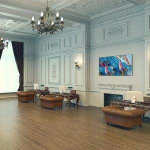 classic lobby 3D model