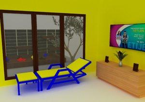 interior modelling 3D model