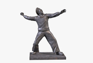 bronze sculpture sailor 3D model