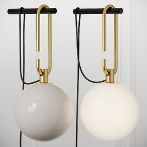 sconce artemide nh wall lamp 3D model